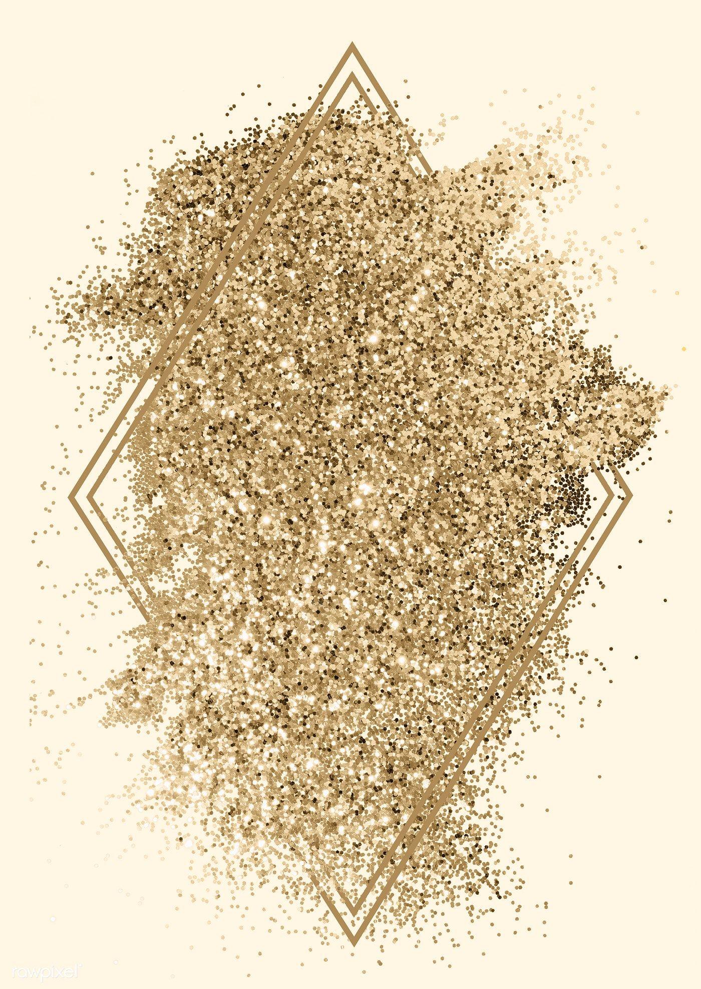 Festive sparkly golden glitter background badge | free image by rawpixel.com / Ake #goldglitterbackground