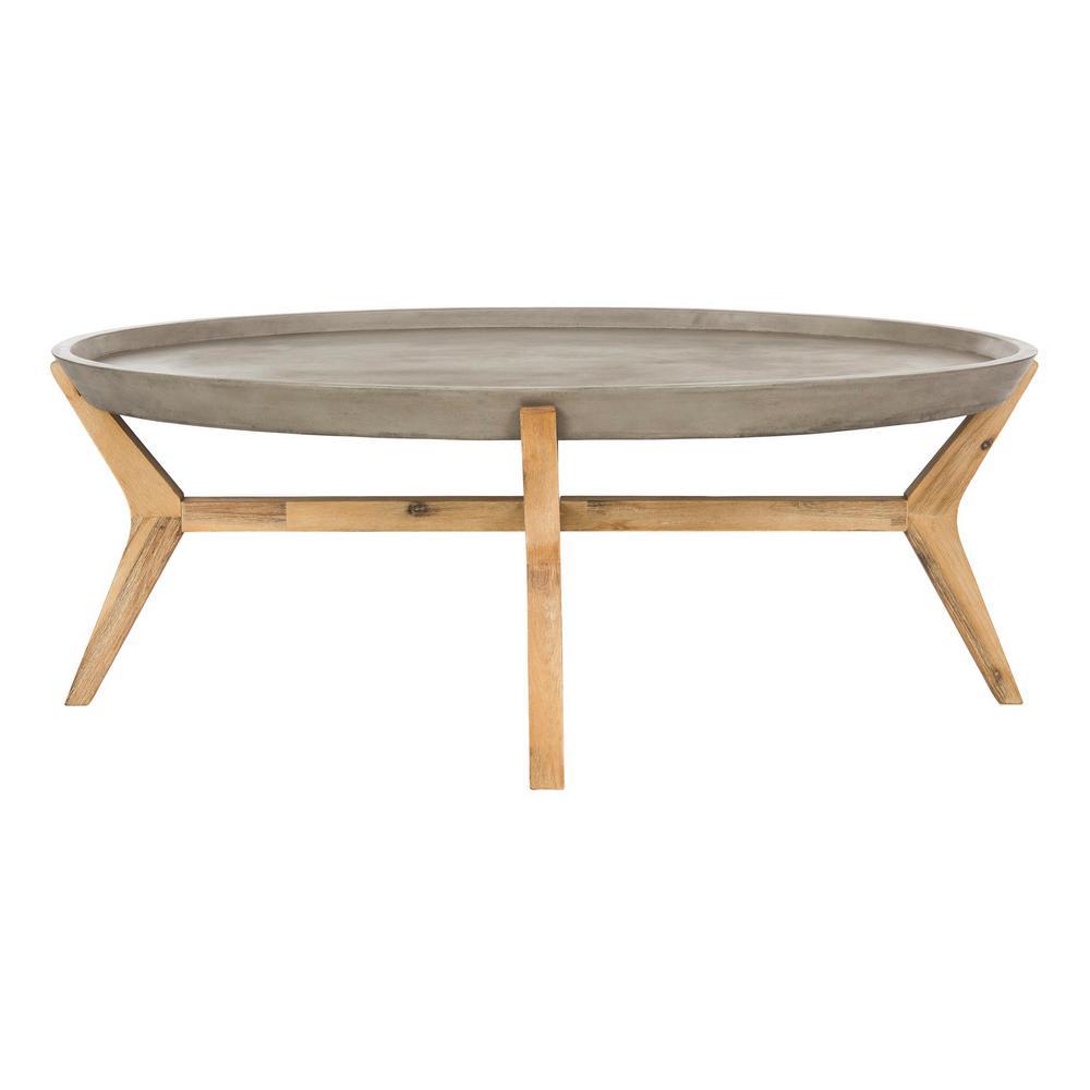 Safavieh Hadwin Dark Gray Round Stone Indoor Outdoor Coffee Table Vnn1021a The Home Depot Coffee Table Oval Coffee Tables Outdoor Coffee Tables [ 1000 x 1000 Pixel ]