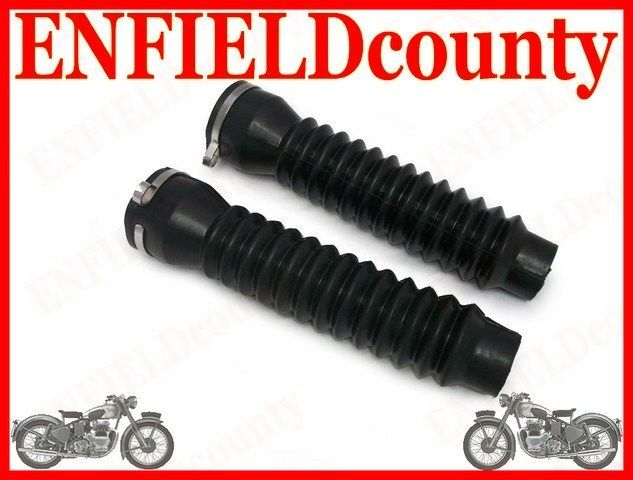 NEW ROYAL ENFIELD FORK GAITERS DUST COVER WITH CLAMPS