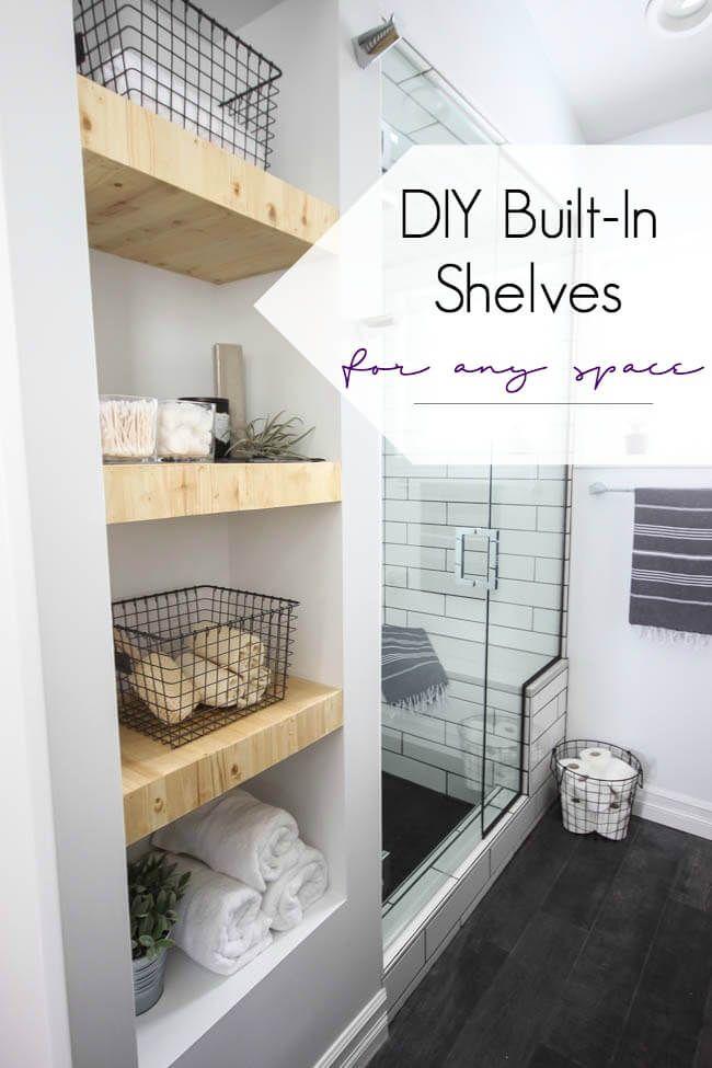 25 Brilliant Built-in Badezimmer Regal und Storage-Ideen zu halten ...