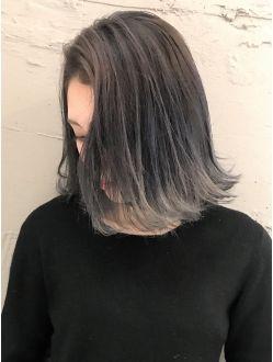 Beleza下田 Ba961 ホワイトアッシュグラデーションカラーロブ ヘア