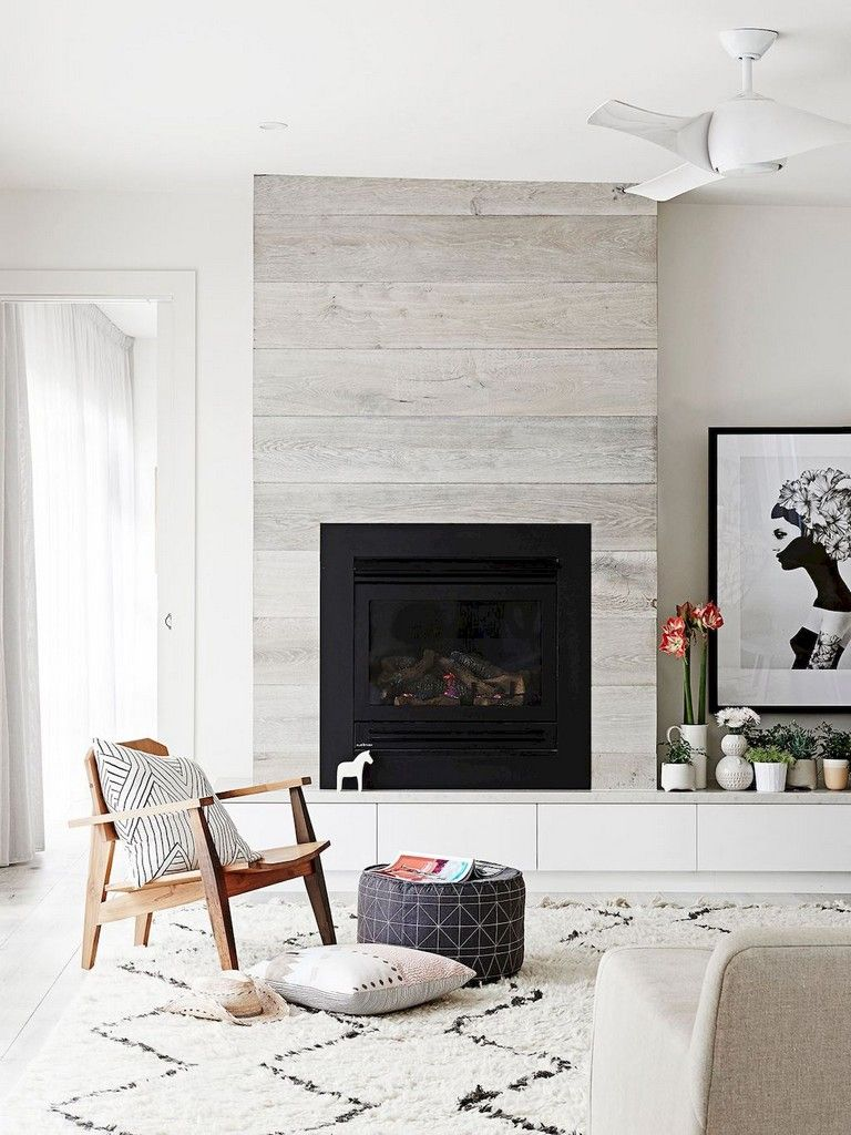 64+ Smart Scandinavian Fireplace Ideas Makeover for Your Living Room - Page 9 of 66 #modernfireplaceideas