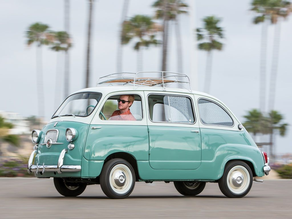 This Adorable Mint Green Fiat Twinset is For Sale | Fiat 600, Fiat ...