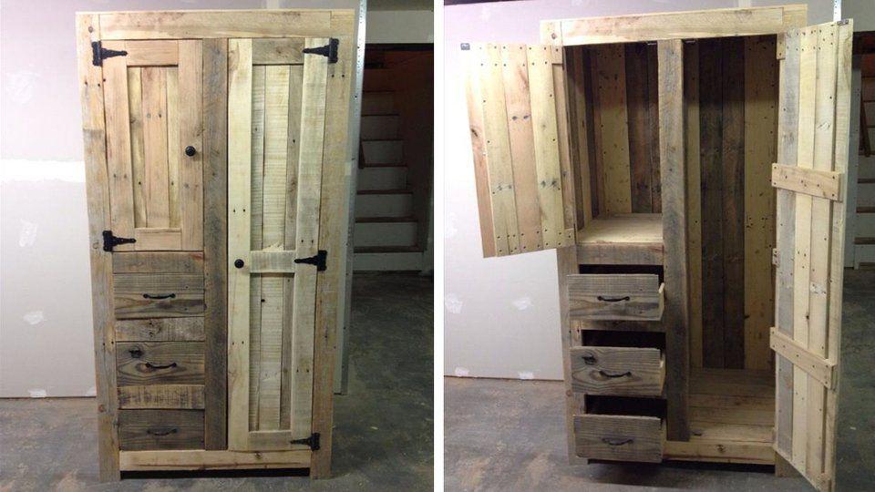 30 meubles à faire avec des palettes ! | armoires, pallets and woods