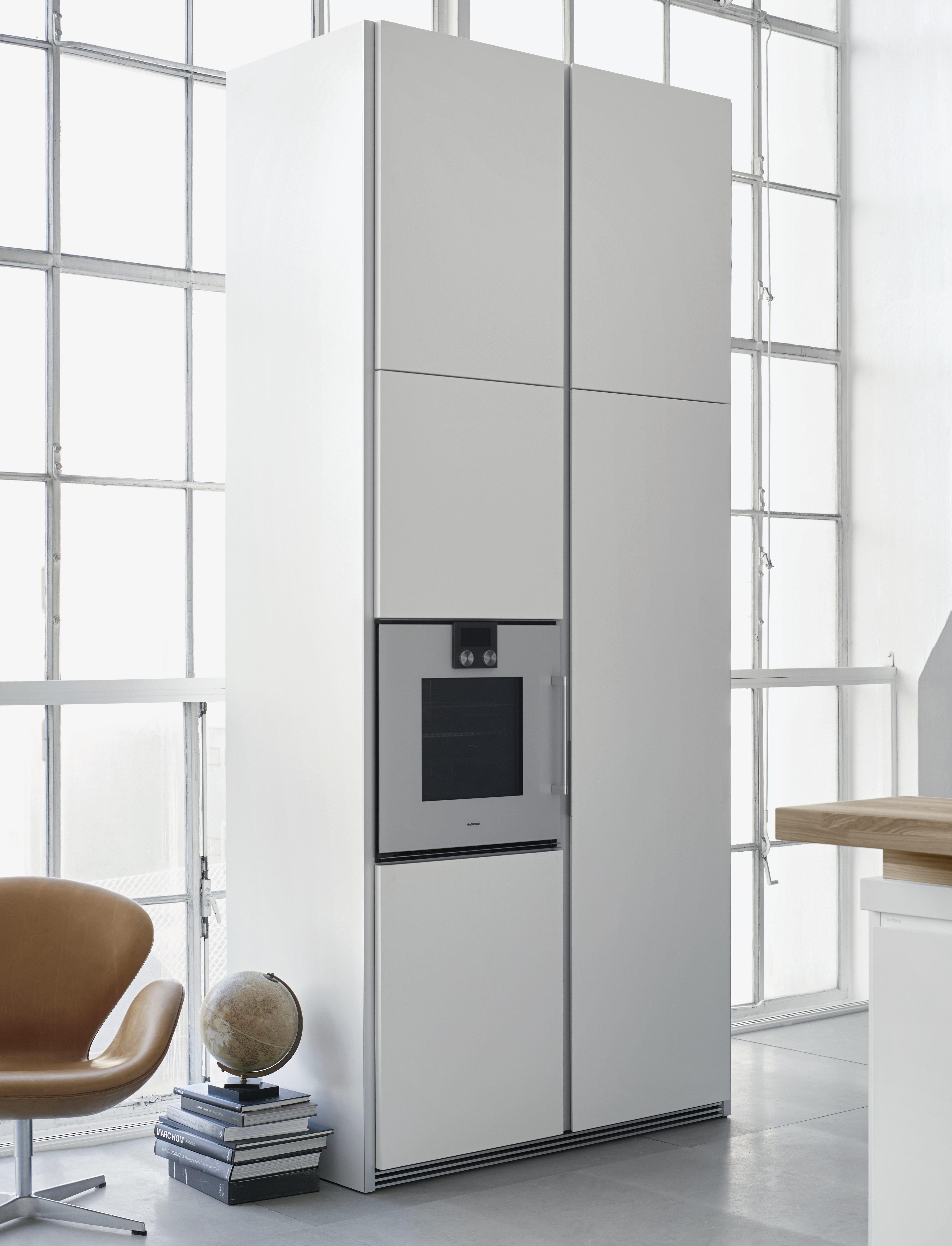 Bulthaup B1 White Lacquer Tall Cabinets Gaggenau Oven Kitchen