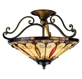 Quoizel Tf1040 Stained Glass Light Glass Light Fixtures