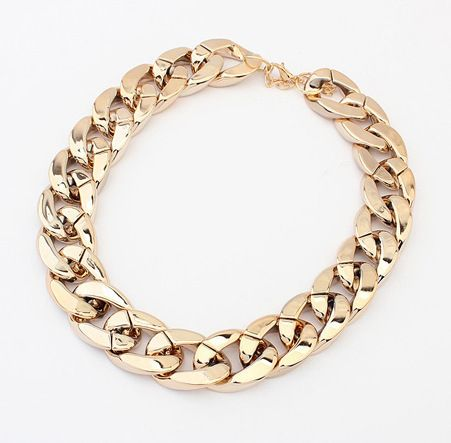 08c6f8e06f92 QQ Jewelry All-match thick Choker Chunky Shiny chain necklace Wholesale  SALE  105