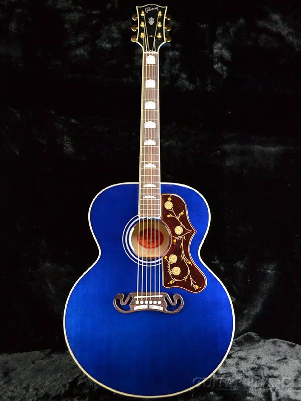 Gibson Sj200 Limited Edition Trans Blue Gibson Guitars In 2018