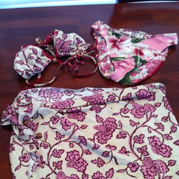 Selling this Lucky Brand 3 PC Bikini Set in my Poshmark closet! My username is: elegantcouture. #shopmycloset #poshmark #fashion #shopping #style #forsale #Lucky Brand #Other