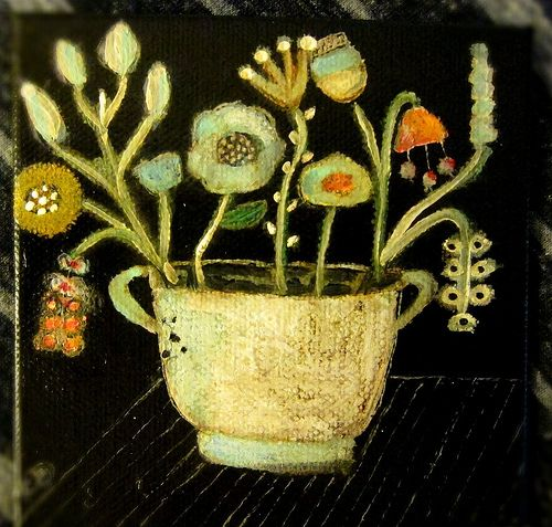 Constanza Silva - Mini Folk Art Painting