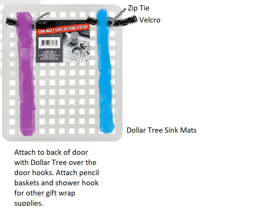 Over the door gift wrap storage  sc 1 st  Pinterest & Over the door gift wrap storage | Dreaming of Home | Pinterest ...