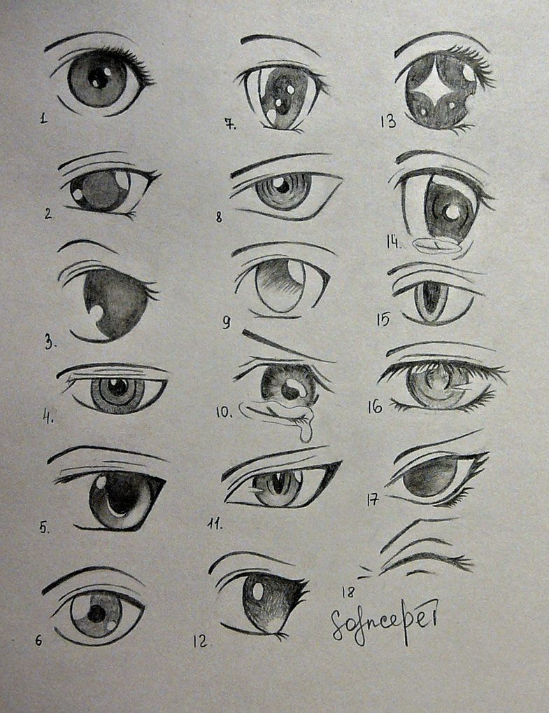 anime eyes.. by SolnceDei on DeviantArt Anime drawings
