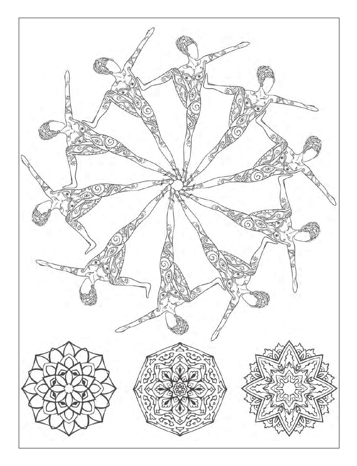 Yoga Coloring Page | Yoga | Pinterest | Yoga poses, Coloring and ...