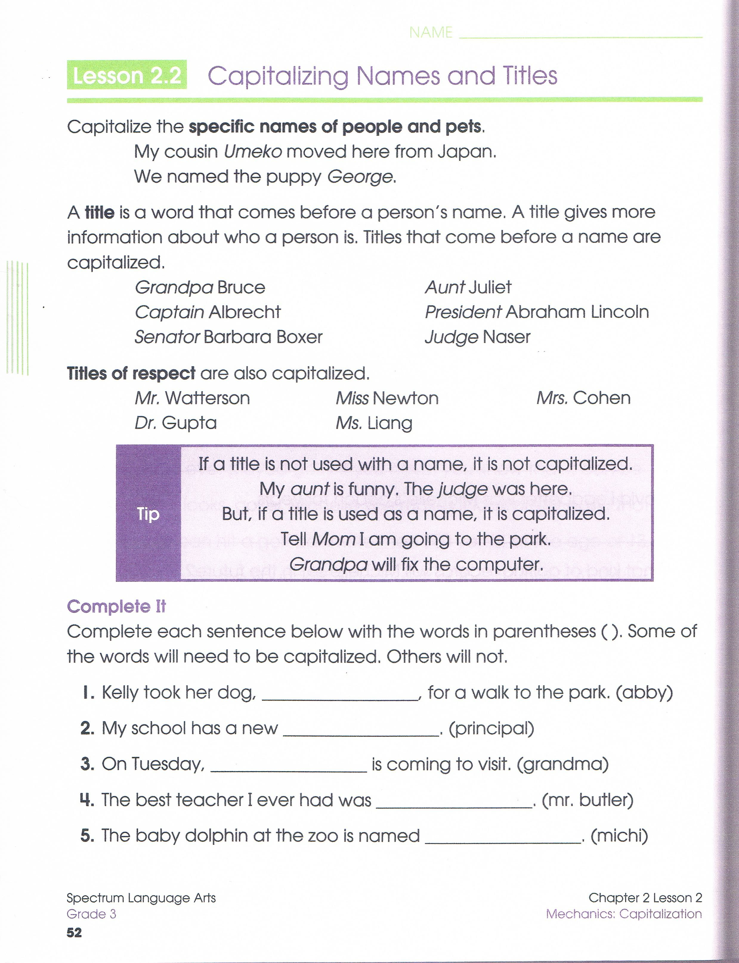 worksheet Capitalization Worksheets 4th Grade i would use this as an introduction worksheet for capitalization it gives the students a