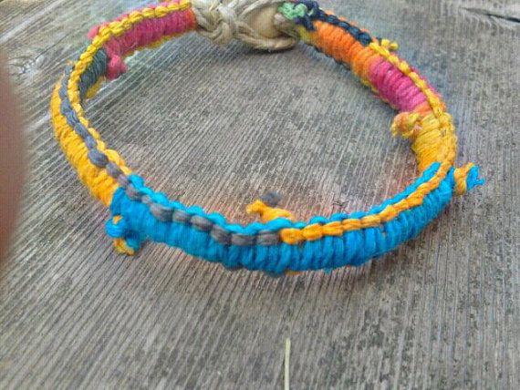 hemp patchwork bracelet