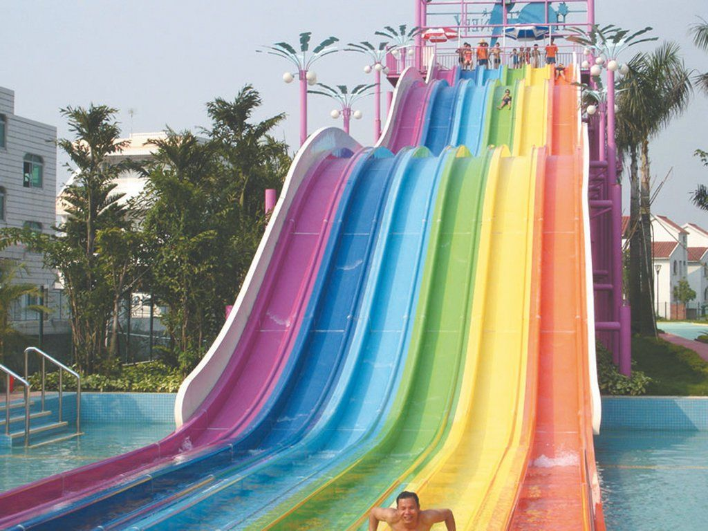 15 Wildest Water Slides From Around The World Water Slides Rainbow Wild Waters