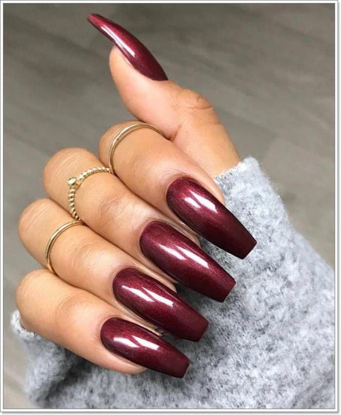 112 Epic Burgundy Nails You Must Try #nails #burgundy #nails #AbstractsNails