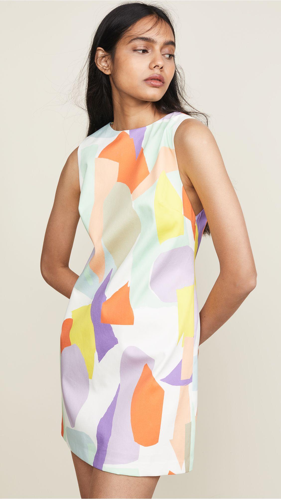 Alice Olivia Clyde Shift Dress Shift Dress Pattern Shift Dress Disco Outfit [ 2000 x 1128 Pixel ]