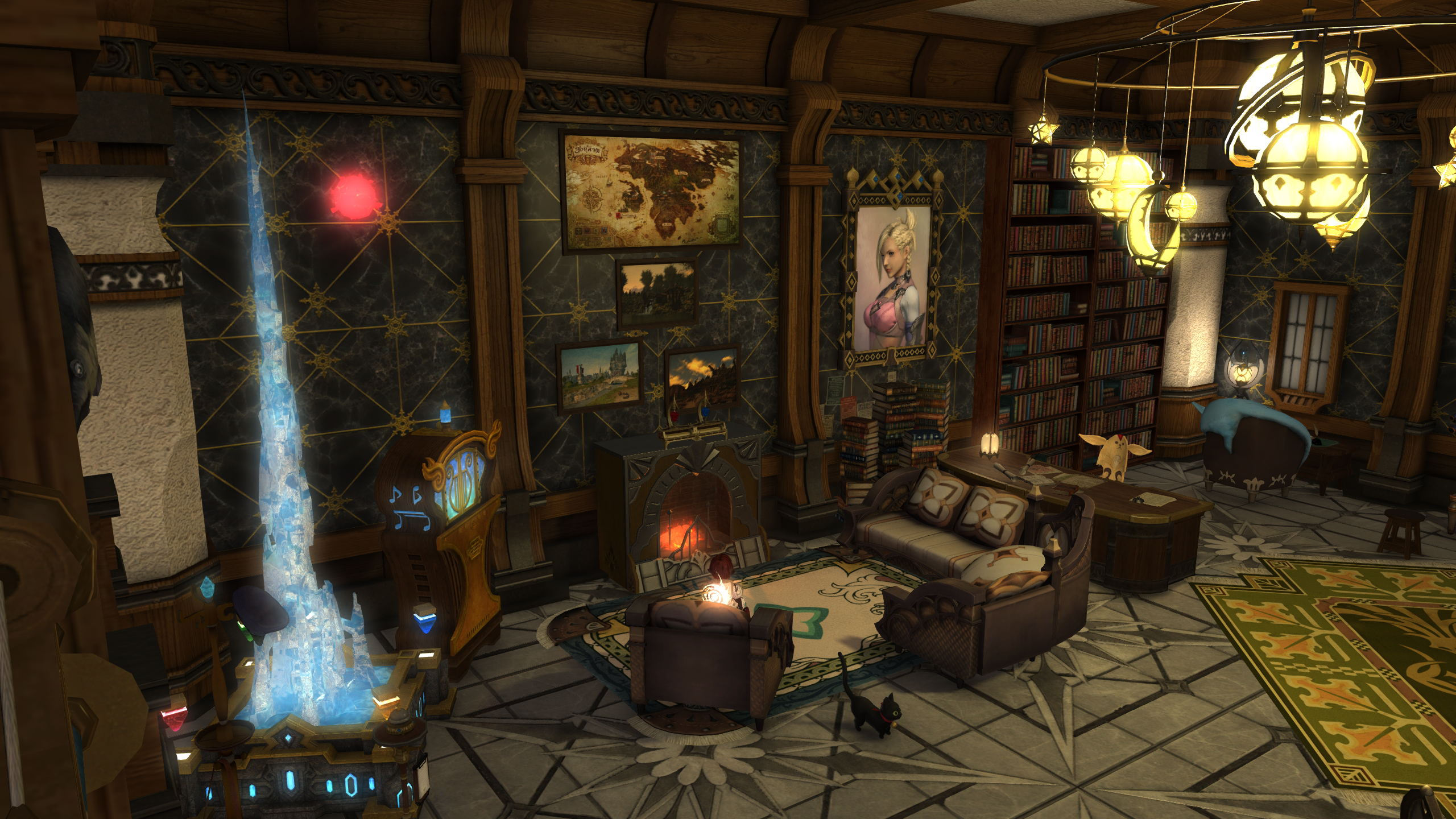 Final Fantasy Xiv Apartment Small House Fireplace House