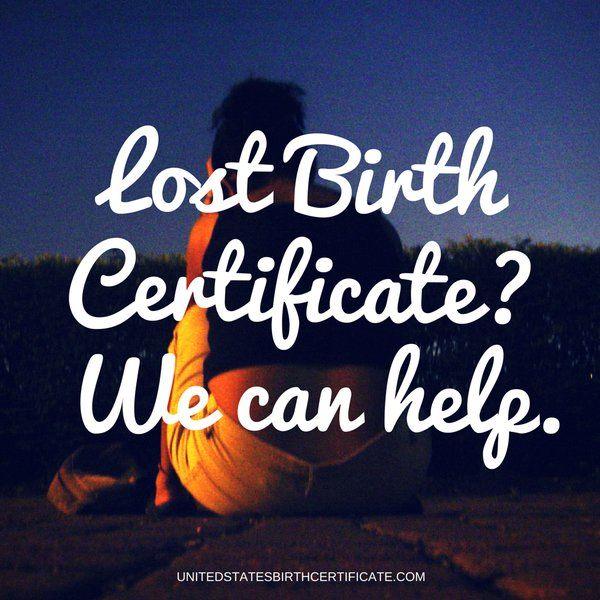 Misplaced your US birth certificate and need to apply for a US - copy certificate picture
