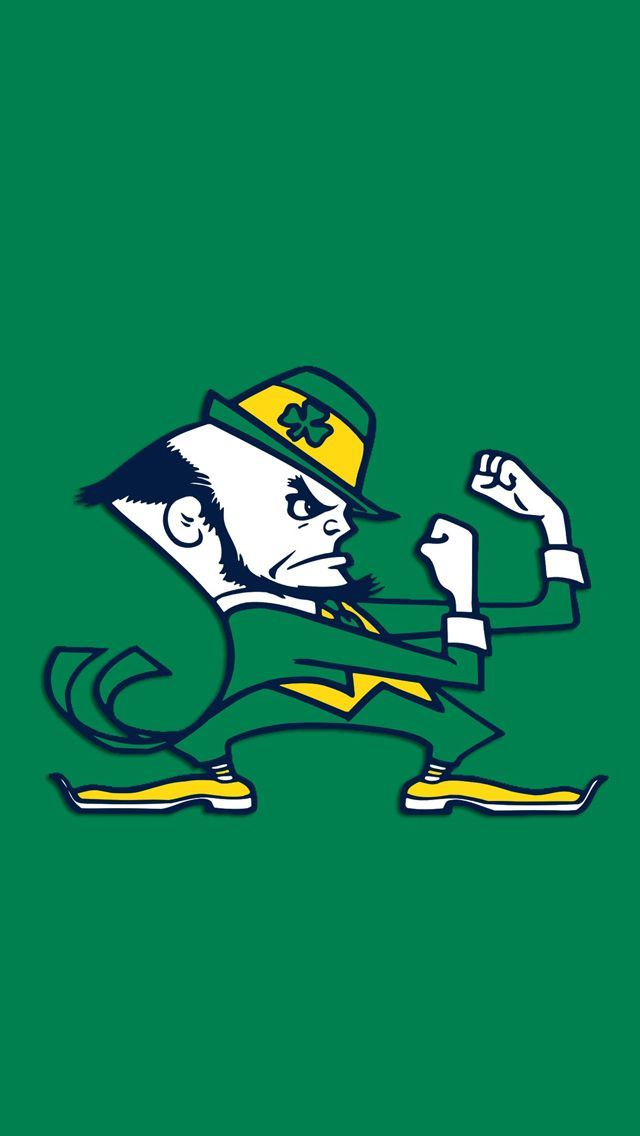 Notre Dame Fighting Irish Green Free Mobile Phone