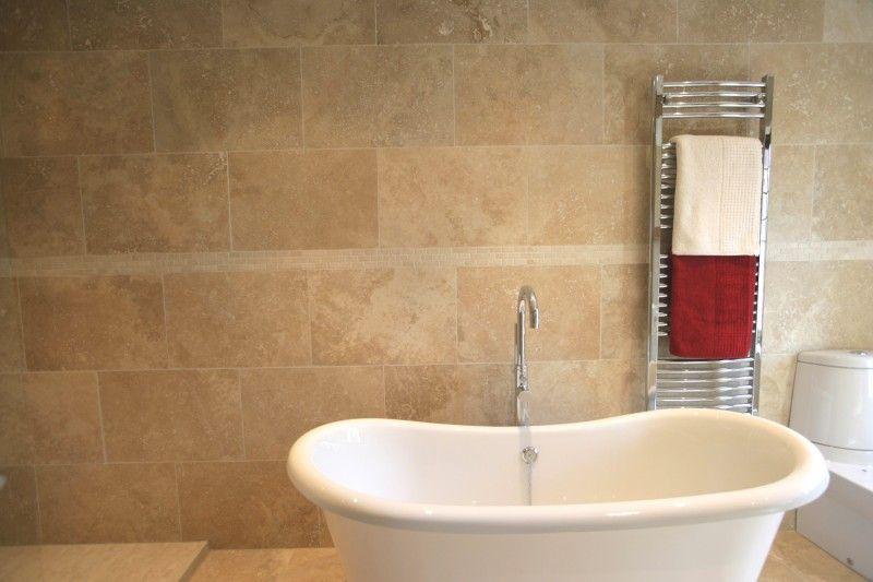 Travertine Tile bath triangle tiles Happy Home Pinterest