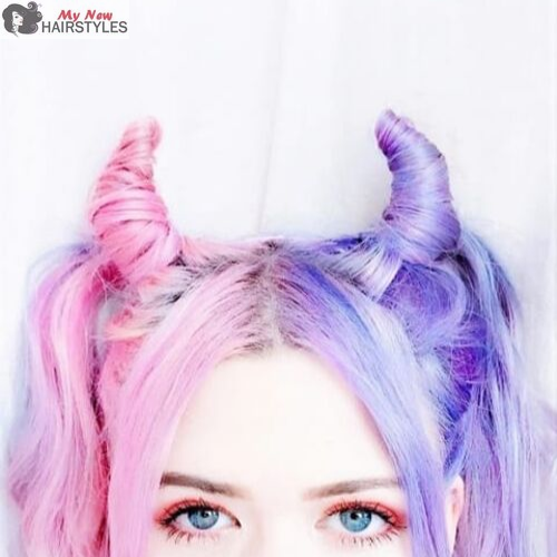 Halloween Hairstyles 60 Incredible Ideas That Range From The Ultra Creative To The Very Fast Edgy Hair Color Halloween Hair Unnatural Hair Color