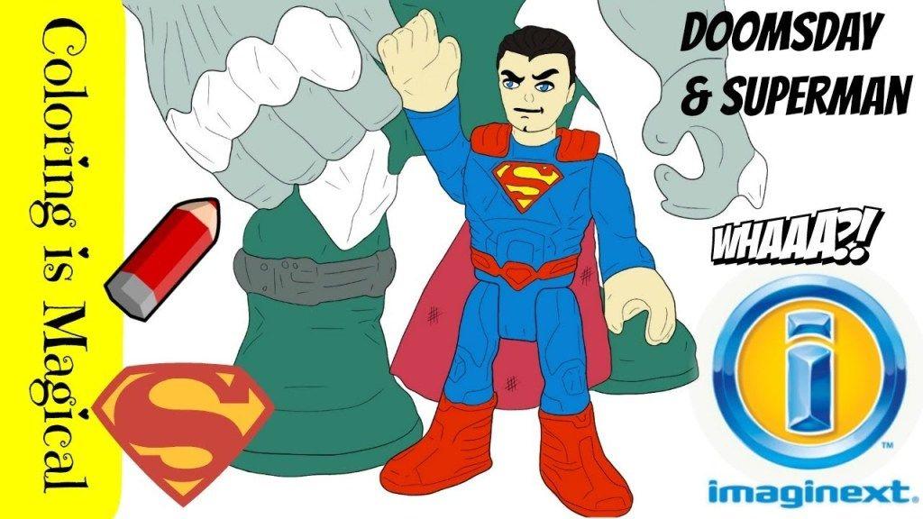 Coloring Imaginext Superman Vs Doomsday Superman Coloring Pages Superman Doomsday