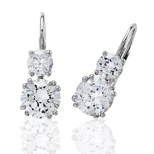 Round 2 Stone Diamond Earrings 690 Dia