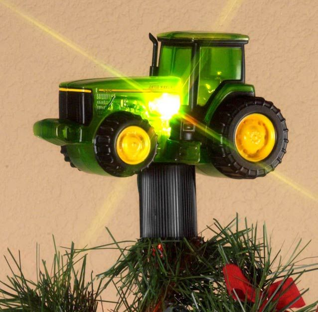 John Deere Tractor Christmas Tree Topper I will have to find this for next  year! - John Deere Tractor Christmas Tree Topper I Will Have To Find This