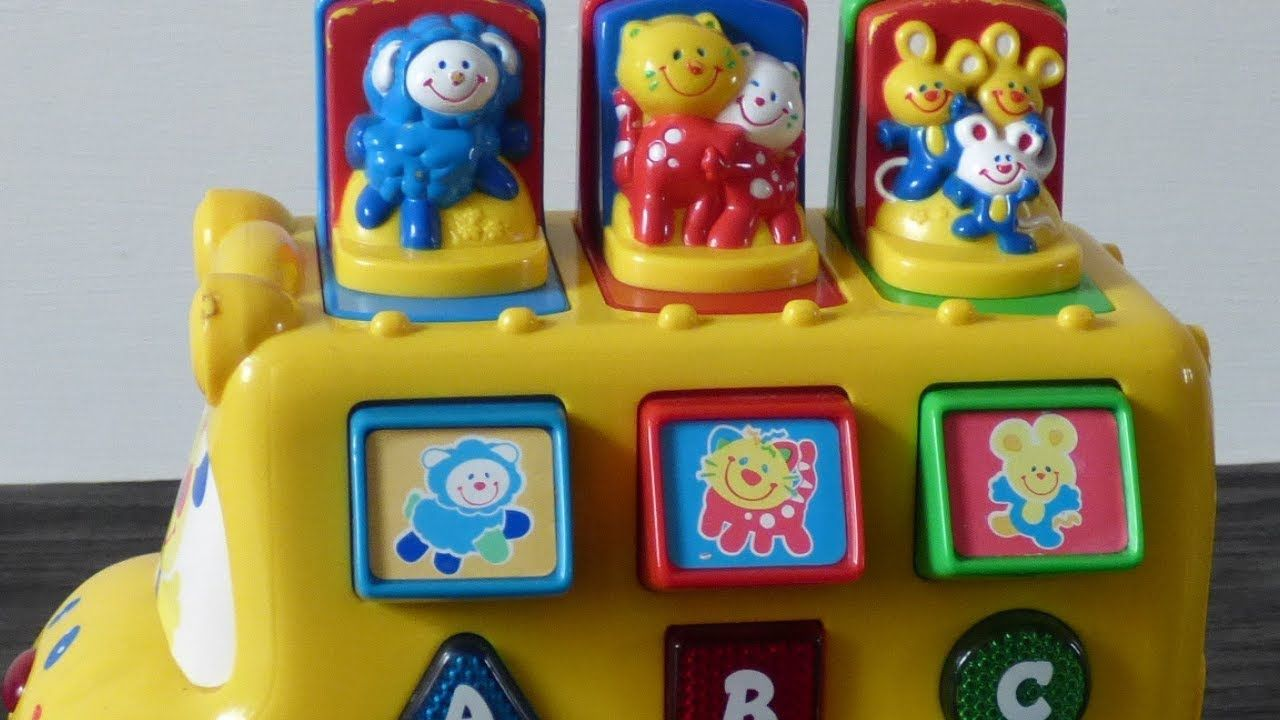 Fisher Price Musical Wheels on the Bus Nursery Rhyme Song ...  |Fisher Price Bus Nursery Rhymes