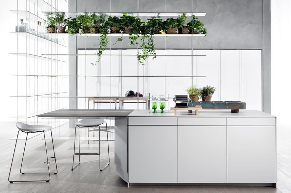Con tavolo penisola multiuso arredamento kitchen for Elle decor interni