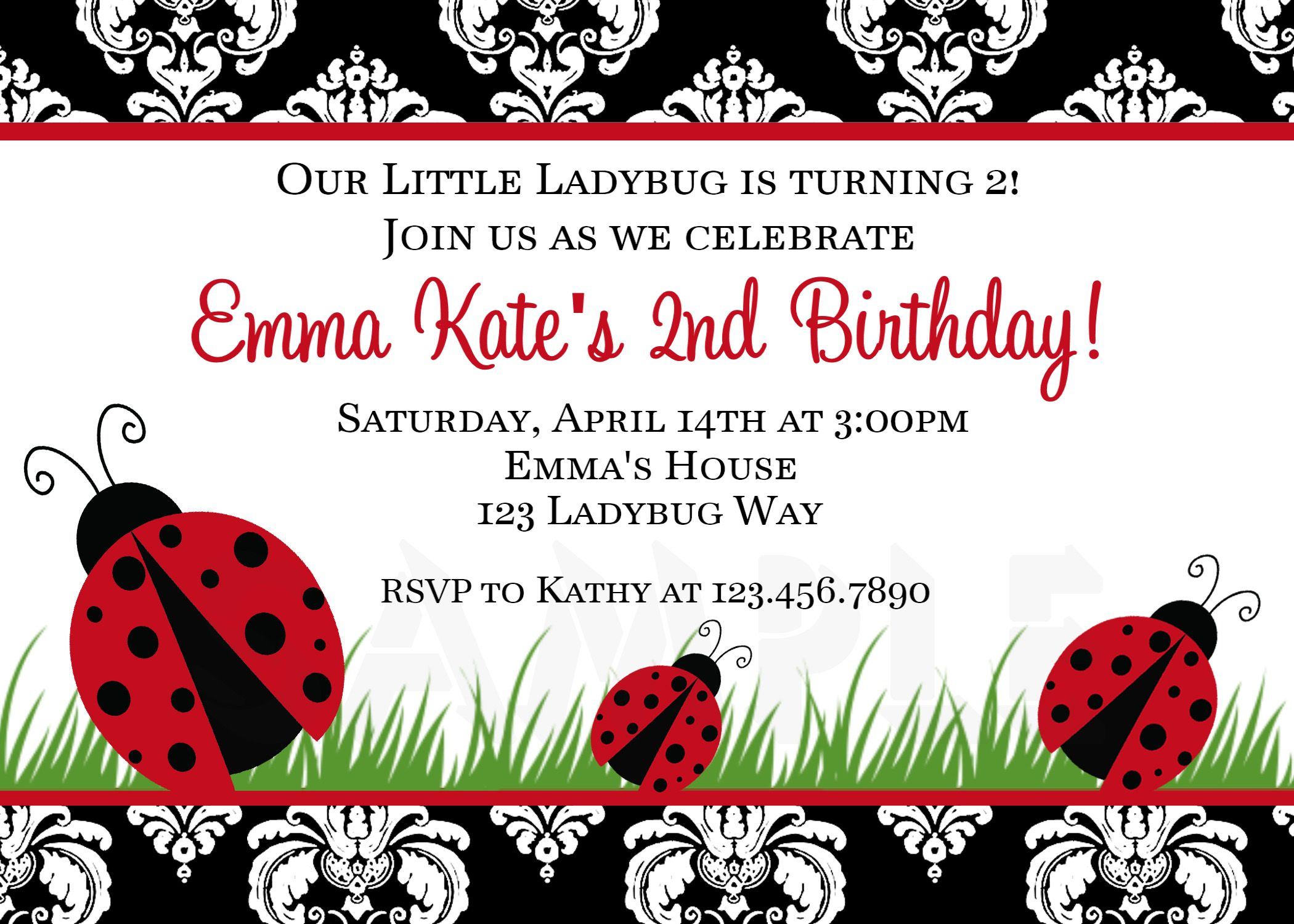 diy+ladybug+invitations | Free Ladybug Baby Shower Invitations ...