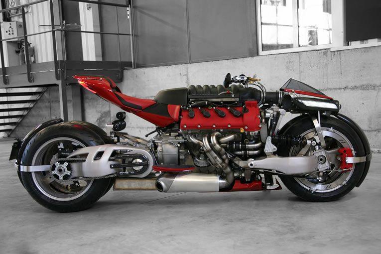 Lazareth Lm847 4 Wheel Monster Bike Powered By Maserati Engine For