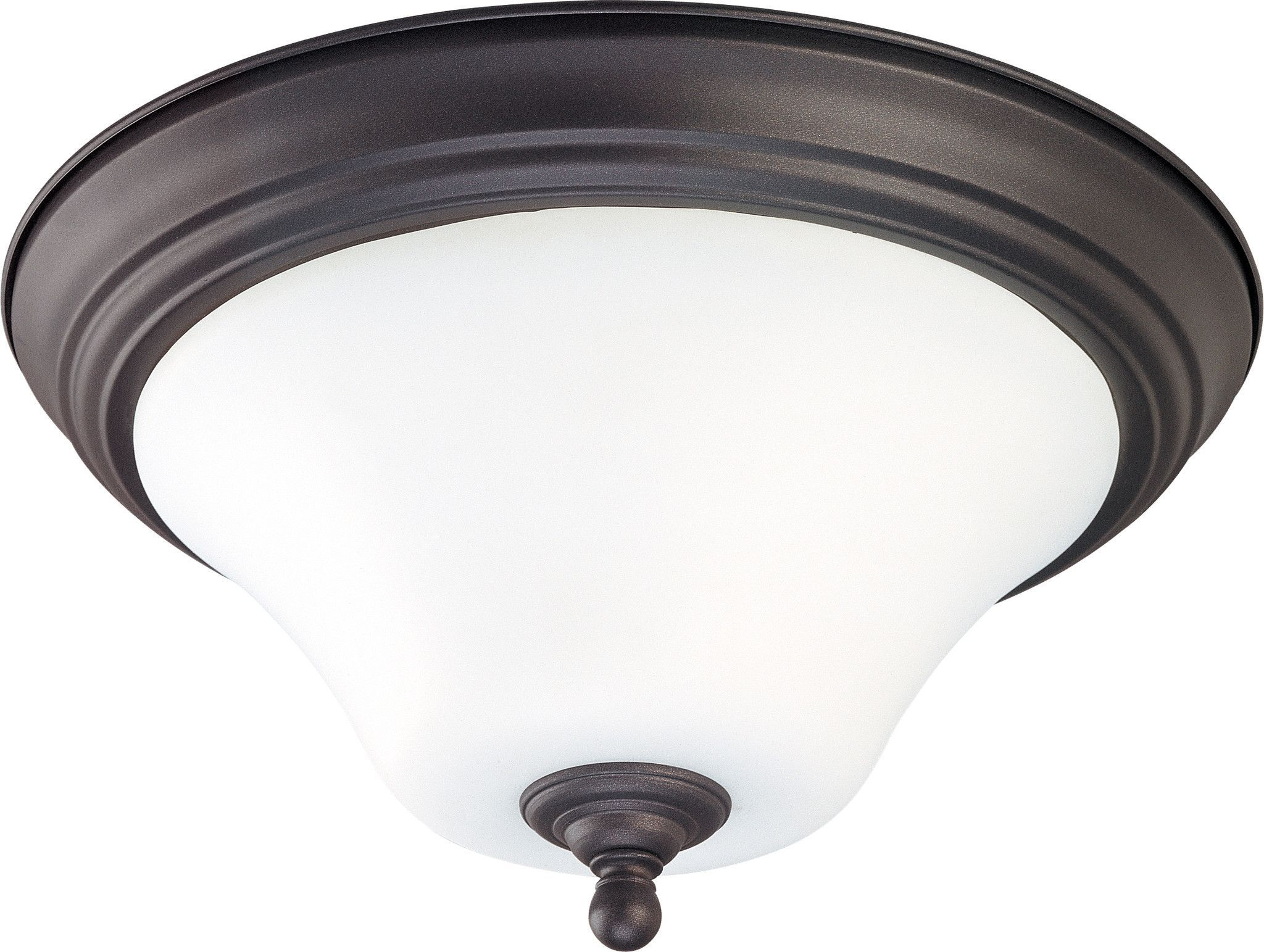 """Dupont ES - 2 light 13"""" Flush Mount with Satin White Glass - 13w GU24 Lamps Included"""