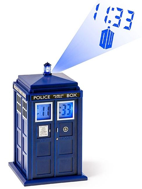 Dr Who Tardis Projection Alarm Clock Official Dr Who Merchandise