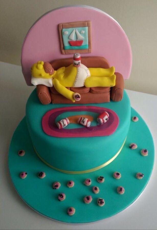 Homer simpson cake beaux gateaux pinterest gateau - Simpson anniversaire ...