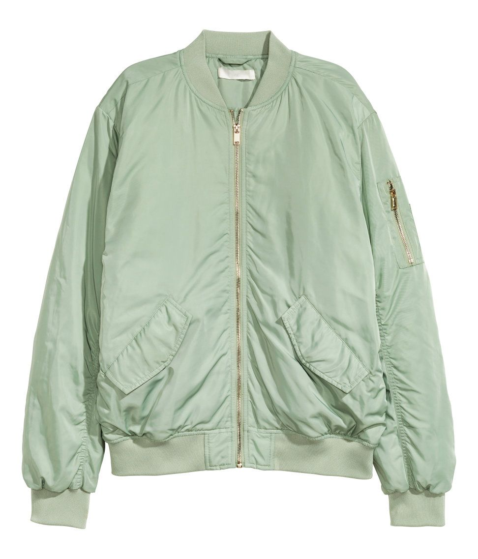 Mint Green Bomber Jacket  b340ba86a96