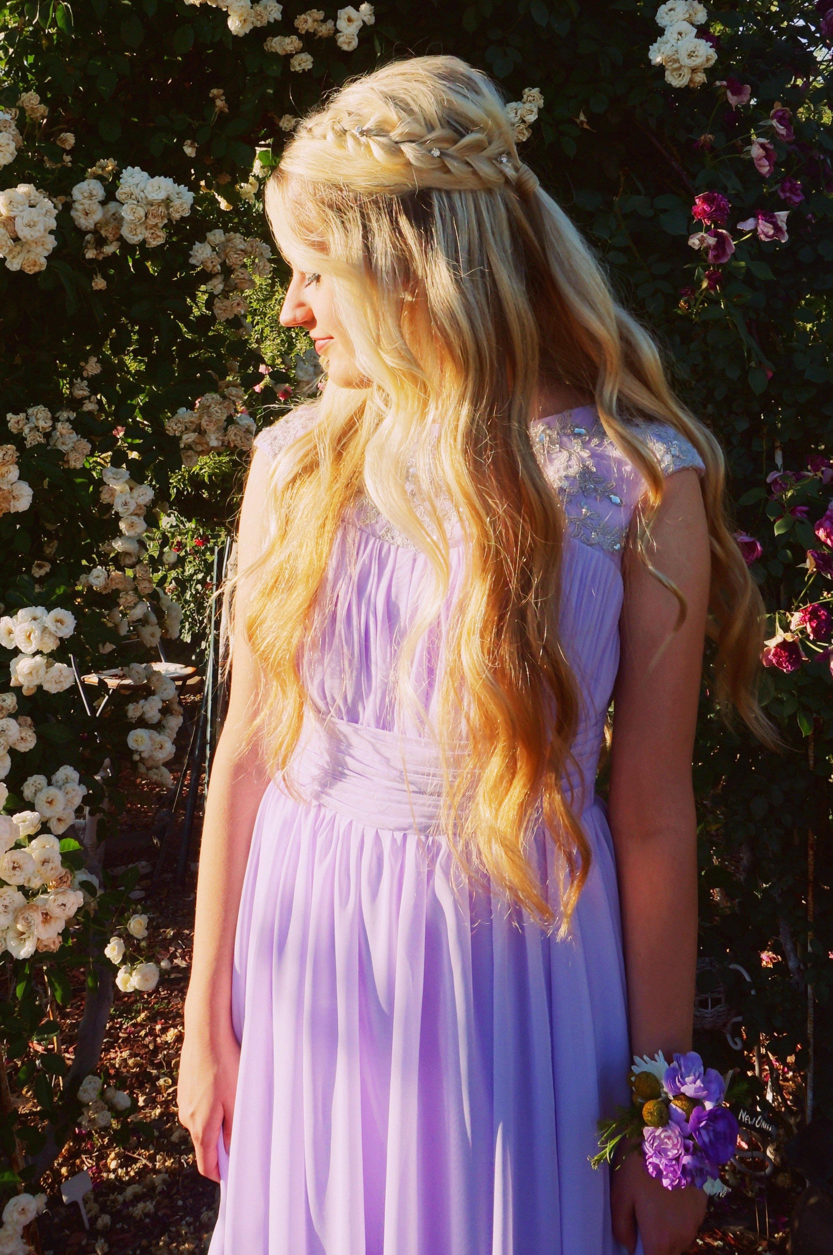 Emma Lilac Purple Modest Prom Dress with Sleeves Prom
