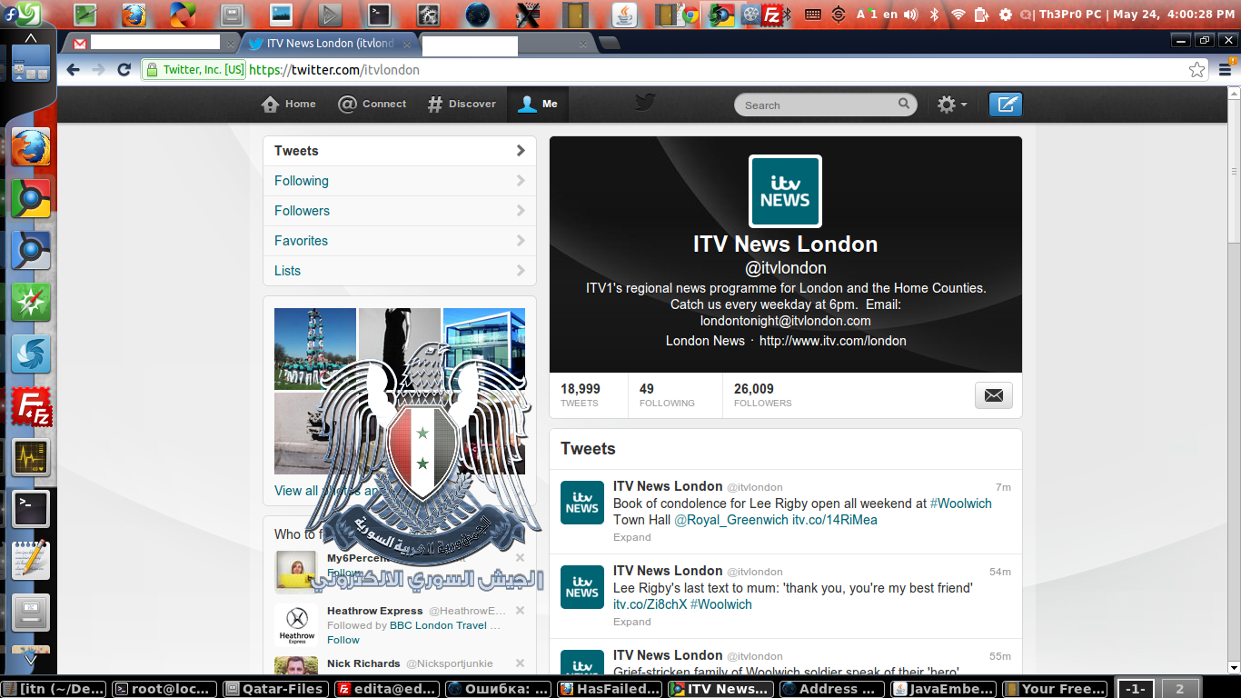 ITV #News #Twitter / #Facebook accounts #hacked | Syrian