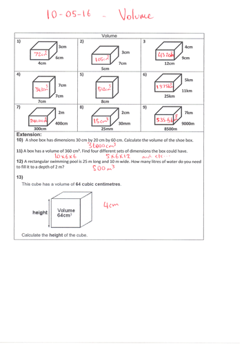 Volume Of 3d Shapes Cube Cuboid Ks2 Maths And