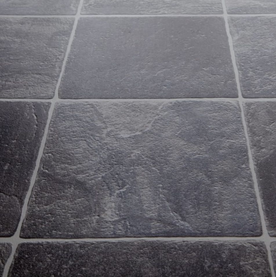 Goliath Granite Carbon Vinyl Tile effect vinyl flooring