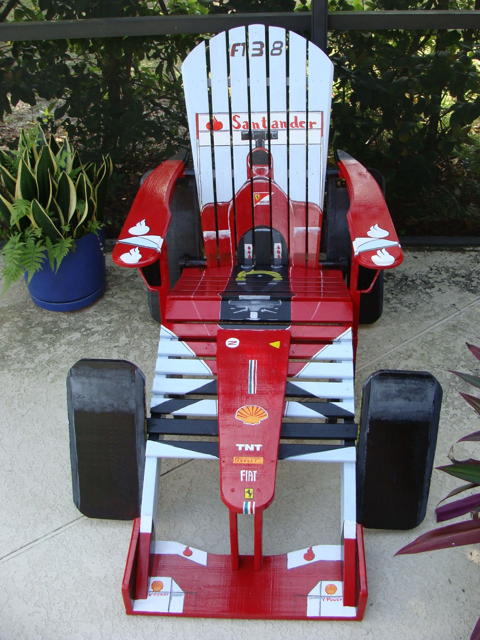 f1 racing chair hanging chairs garden ferarri handpainted custom designed