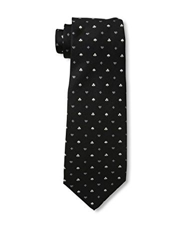 Valentino Men's Patterned Tie, Black