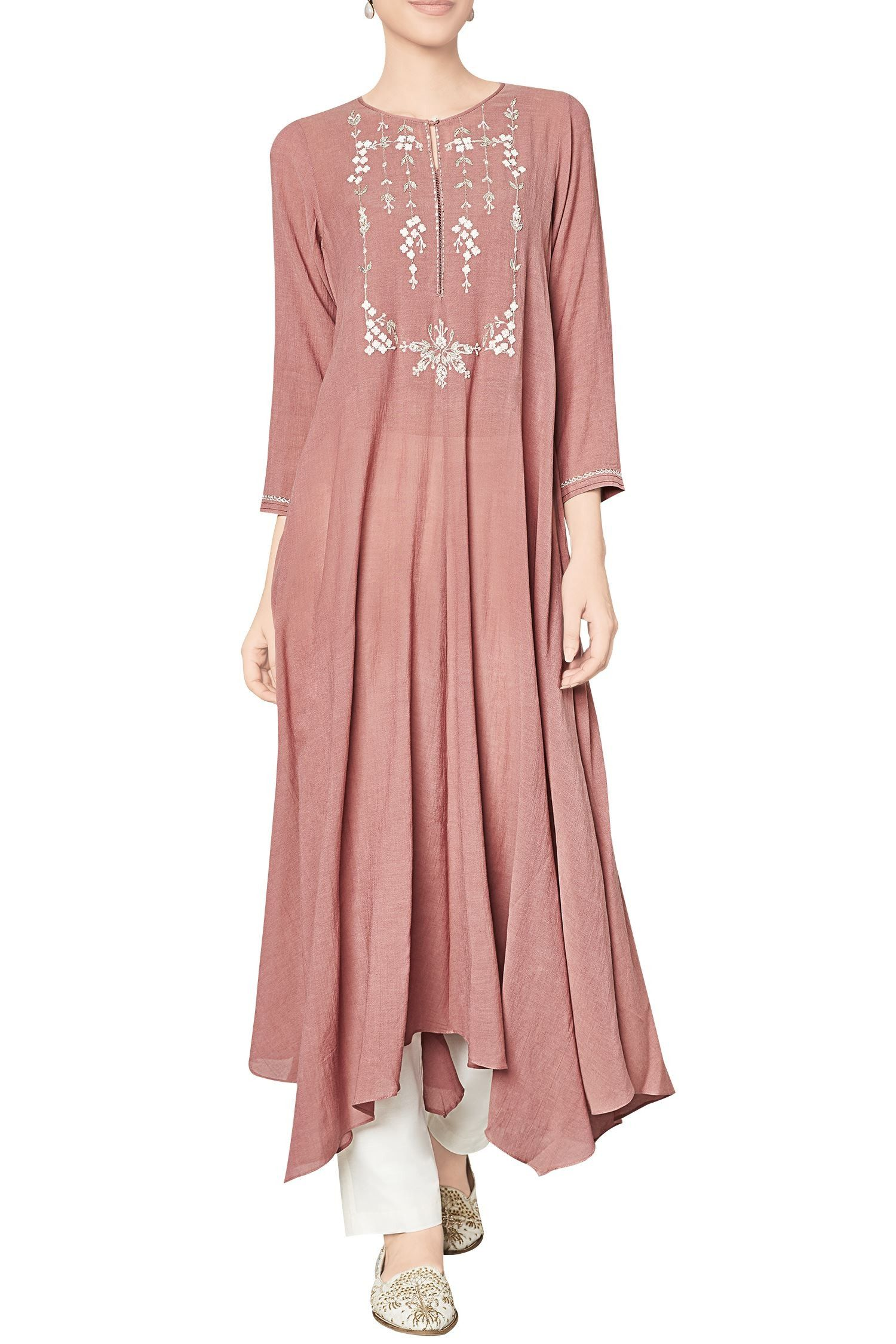 ce023a137c5 Shop Anita Dongre - Marsala cotton georgette tunic Latest Collection  Available at Aza Fashions
