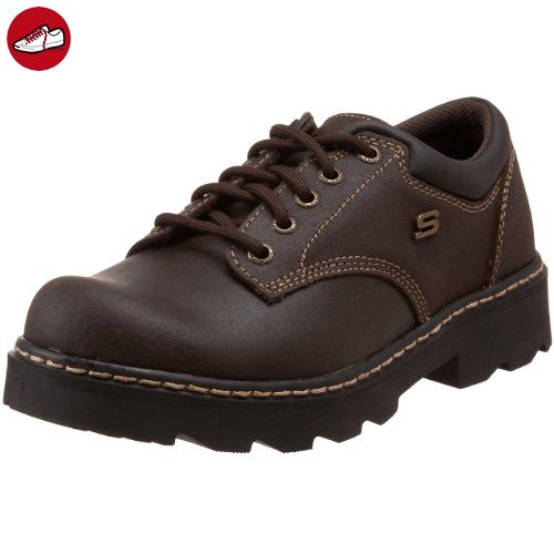 Skechers Parteien-mate Oxford Schuh  Black Suede Leather