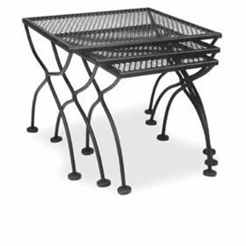 Iron Patio Furniture · Meadowcraft Nesting Tables