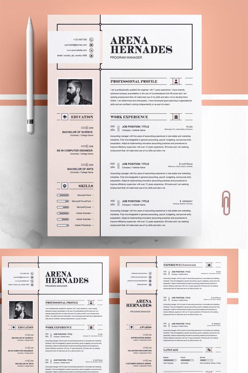 Arena Resume Template Resume Template Resume Design Creative Resume Design Template Resume Design