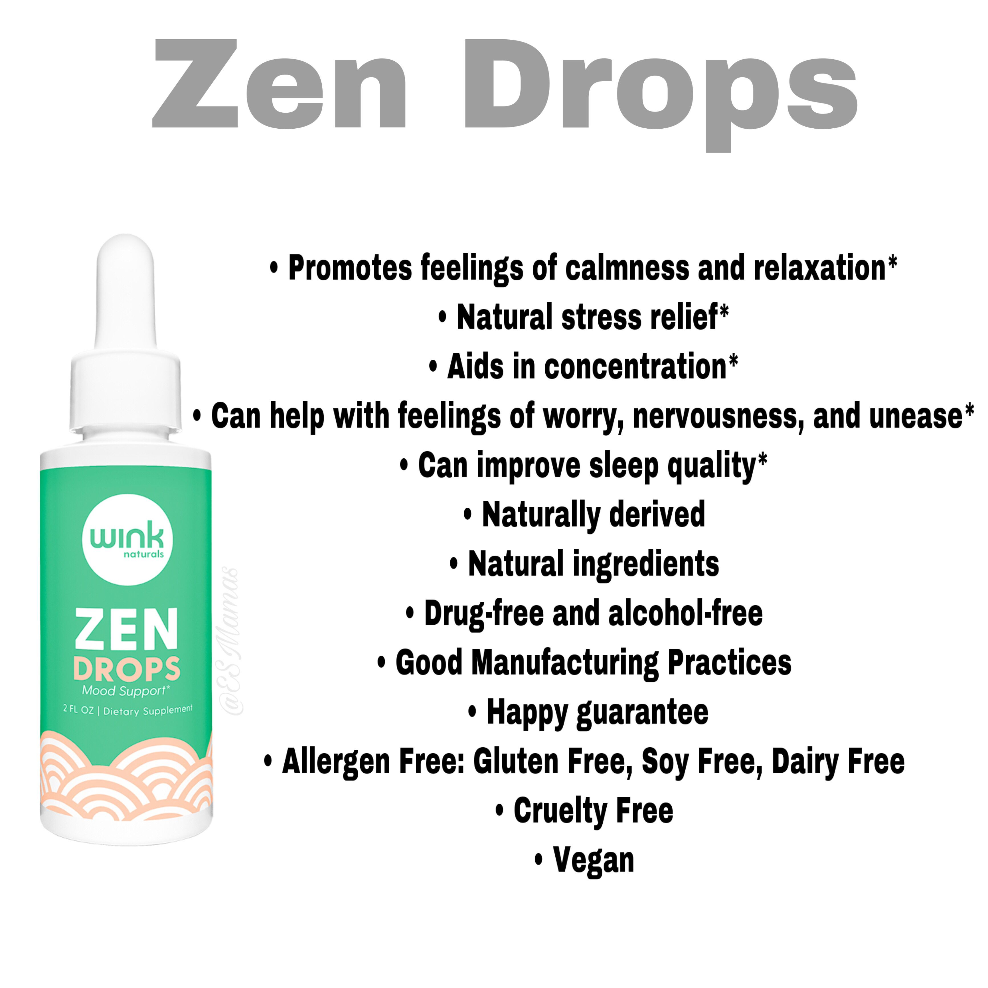 Zen Drops Natural Stress Relief Stress Relief Good Manufacturing Practice