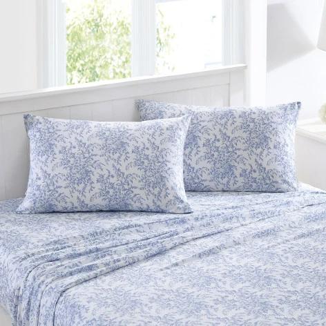 Betina Blue Fl Tencel Sheet Set, Laura Ashley Bluebell Bedding